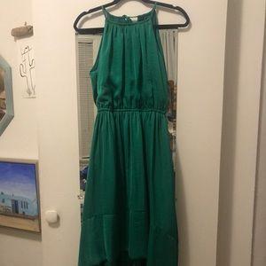 Banana Republic Emerald Silk Dress w/ pockets